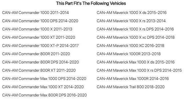 2014 Fits Can-Am Maverick 1000 X rs 2013 Tusk UTV Fabric Roof