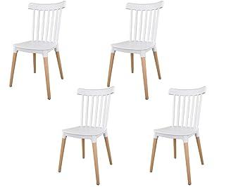 4 Stühle IBH – DESIGN Masena skandinavischer Stuhl ONknX0P8w