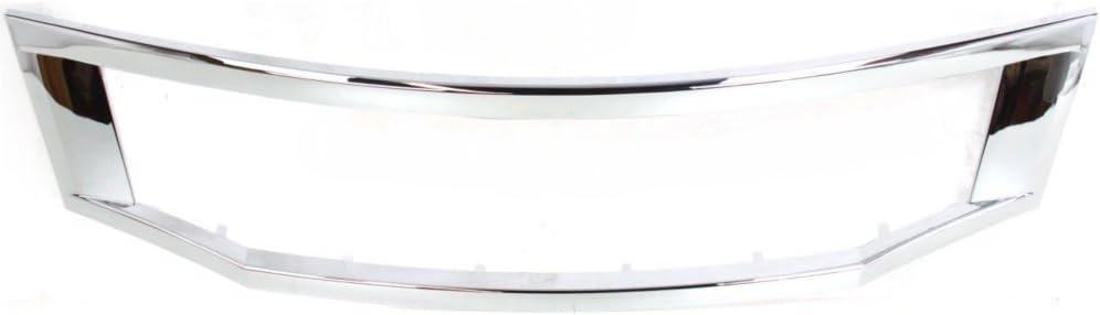 Grille Molding compatible with Honda Accord 08-10 Chrome Sedan Usa//Japan Built