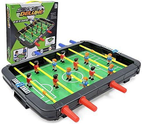 Calistouk Juguete de futbolín 6 Disparos máquina de fútbol de Mesa pequeño, Juego multijugador para niños Fiesta Familiar Juegos de Mesa de Rompecabezas: Amazon.es: Juguetes y juegos