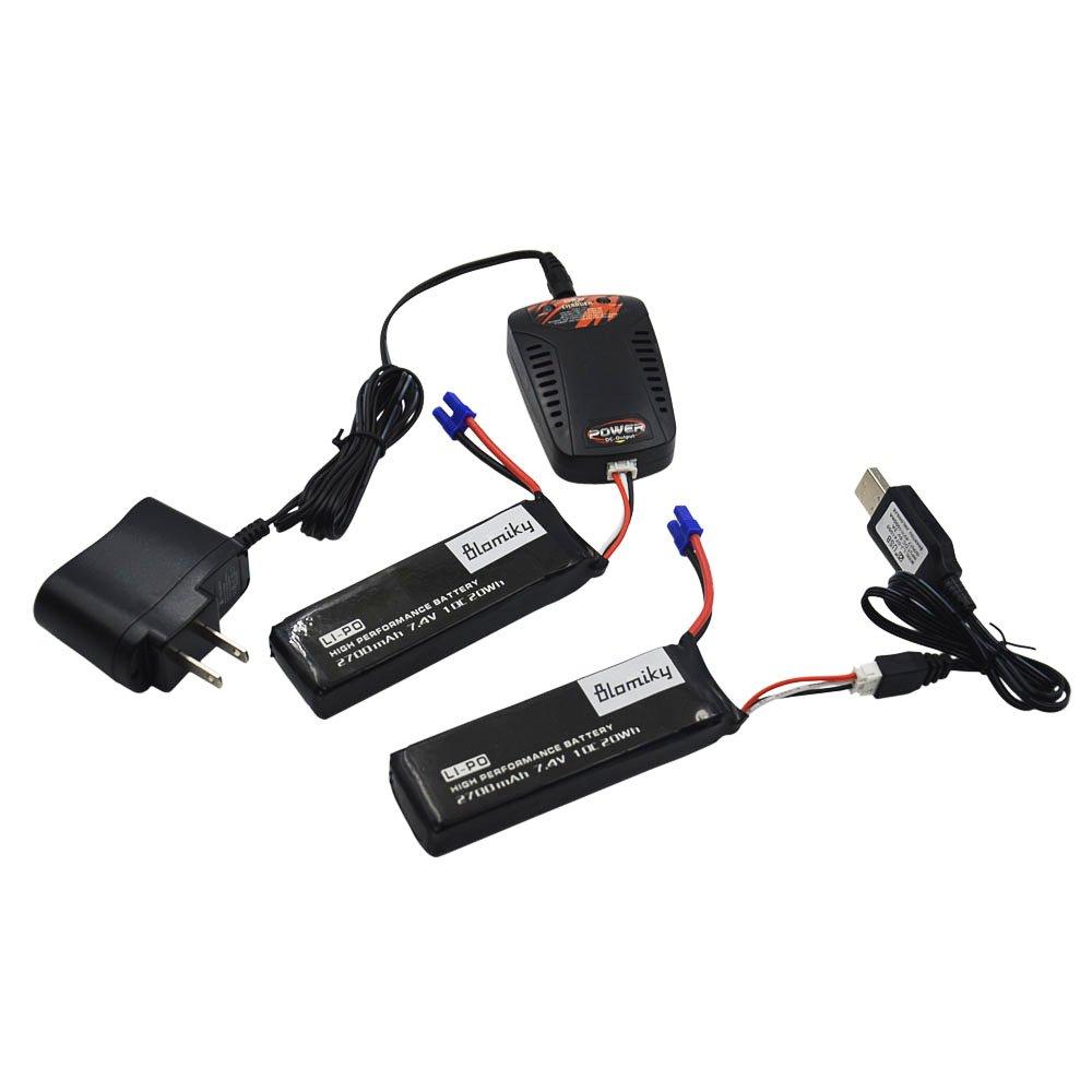 Amazon.com: Blomiky - Pack de 2 baterías de 7,4 V 2700 mAh y ...