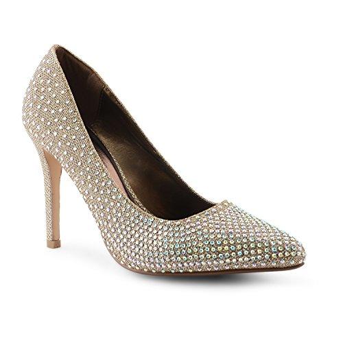 a3a75a1e New de tacones de traje de neopreno para mujer Stiletto con zapatos de  diseño de brillantes
