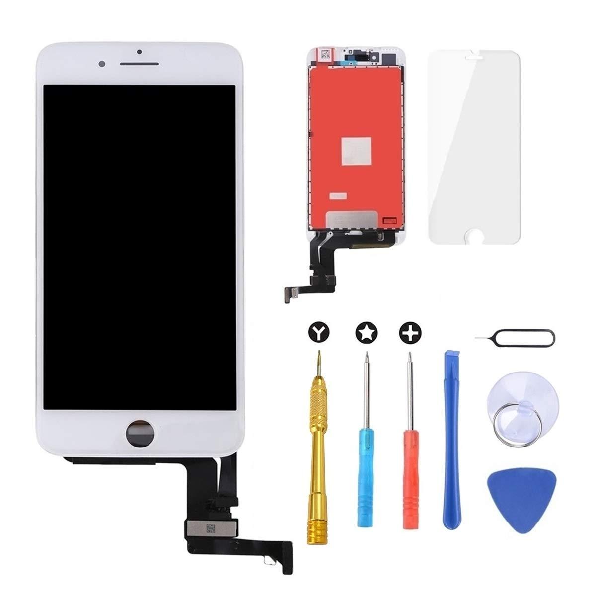 Brinonac Pantalla para iPhone 6 Plus 5.5 T/áctil LCD de Repuesto Ensamblaje de Marco Digitalizador con Herramienta de reparaci/ón y Protector de Pantalla Negro