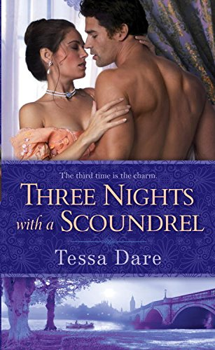 book cover of Three Nights with a Scoundrel