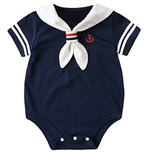 Nautical Sailor Short Sleeve One-piece Romper