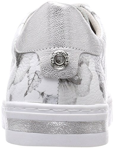Femme Basses Natural grey Sneakers Flower Gris 23640 Be zx1AgqnBwz