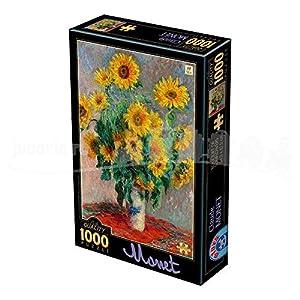 D Toys Puzzle 75864cm 08 1000 Pezzi Monet Claude Bouquet Of Sunflowers