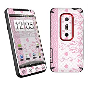 HTC EVO 3D Sprint Vinyl Protection Decal Skin Lace White