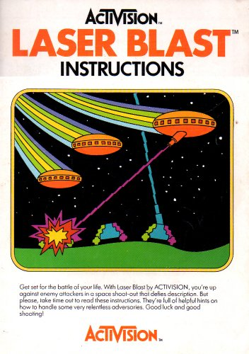 - Laser Blast Atari 2600 Instruction Booklet (Atari 2600 Manual ONLY - NO GAME) Pamphlet - NO GAME INCLUDED