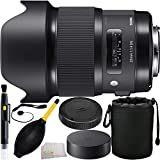 Sigma 20mm f/1.4 DG HSM Art Lens for Canon EF 7PC Accessory Kit. Includes Manufacturer Accessories + Lens Pen + Dust Blower + Cap Keeper + Lens Pouch + Microfiber Cleaning Cloth