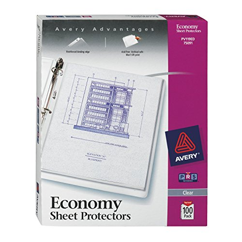 Avery Binder Plastic (Avery Economy Clear Sheet Protectors, 8.5
