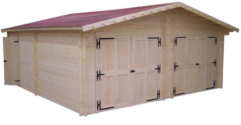 Habrita - HABRITA - Garage double en madriers massifs 42mm - 35, 00 m² Foresta