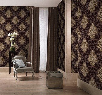 Tapete braun  Lounge Barock Rasch Tapete BESTSELLER 156645 gold braun: Amazon.de ...