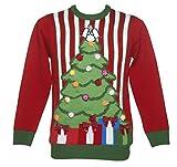 Unisex Weihnachtspullover mit Pompoms