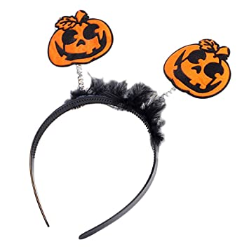 ladaidra halloween headband for women kidsspring pumpkin bat letters hair hoop party costume