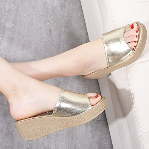 Qingchunhuangtang@ Sommer Slipper Hang Mit Einem Wort Der Sandalen Sandalen Der 418b84