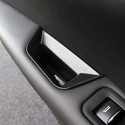 DEFTEN 2pcs Front Side Door Armrest Storage Box Holder Fit for Cadillac XT5 2017-2019