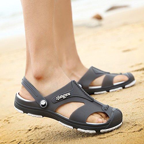 Slipper Herren Grau Clogs Unisex Sandalen Gartenclogs EU Latschen Schuhe Gartenschuhe Erwachsene 44 qTZn0