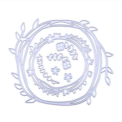 Whitelotous Flower Leaves Cutting Dies Handmade DIY Stencils Template Embossing for Card Scrapbooking Craft