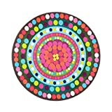 French Bull - Melamine Serving Platter - 15-1/2-Inch Round Serving Tray - for Indoor and Outdoor Entertaining - Bindi