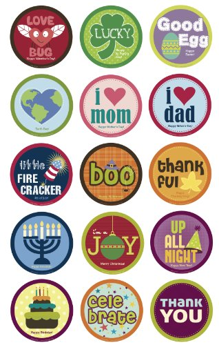 Belly Banter Baby Holiday Stickers For Girls and Boys - Baby By Month Growth Stickers for Clothing and Baby Scrapbook Keepsakes Stickers - Great Baby Shower Gift and Baby Room Stickers