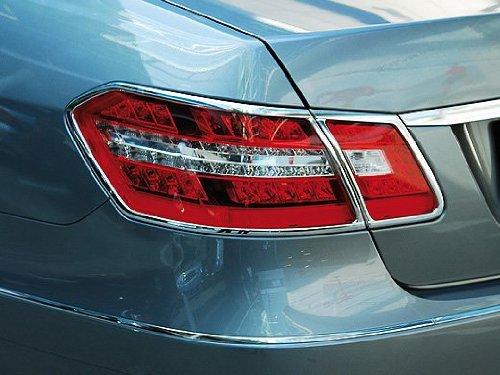 Mercedes w212 (2010+ Sedan) CHROME Taillight Frame Rings E-class tail lamp trim
