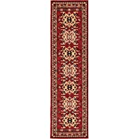 Unique Loom Heriz Collection Red 2 x 8 Runner Area Rug (2 2 x 8 2)