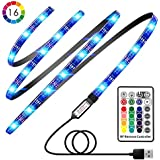 TV LED Strip Lights, Avanz TV LED Backlight for 32-60in TV, Upgraded TV Bias Lighting with 16 Changing Colors & RF Wireless Remote, Waterproof LED Light Strip USB Powered for TV Desktop PC