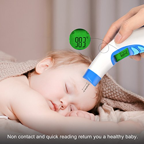 Infrared Forehead Thermometer Digital Medical Ear Lens for Baby, Toddlers and Adults Fever Indicator FDA Approved