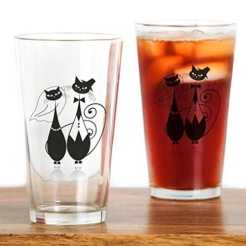 CafePress - Wedding Cats Drinking Glass