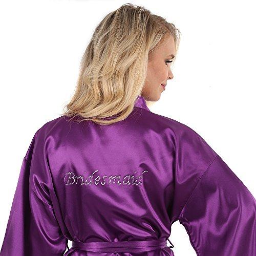 Majestic Kimono Robe (VEAMI Women's Short Kimono Robe-Majestic Violet-X-Large, Bridesmaid Edition)