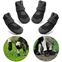 "Dog Paw Protectors, Soft Sole Non-Slip Dog Shoes, Water Resistant Dog Boots with Reflective Magic Strap, Best for Small to Medium Dogs 3# (W 1.97"")"
