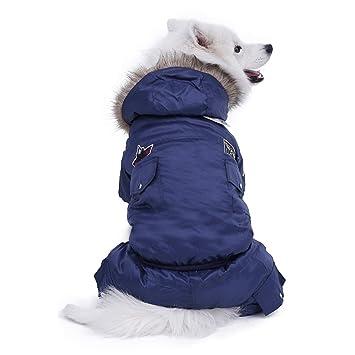 Ropa de Abrigo para Perros Grandes Invierno para Mascotas Mono para Perros Traje de chándal para Perros Grandes y cálidos Chaqueta con Capucha para ...