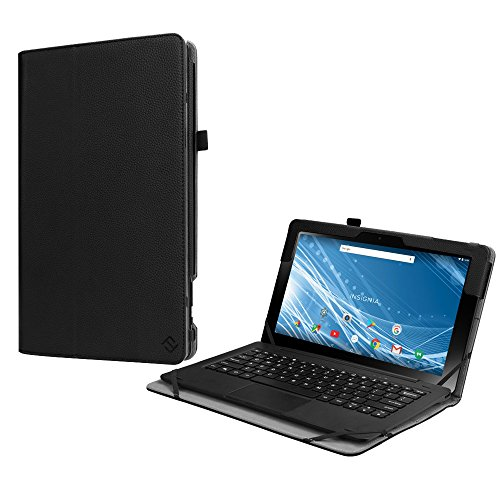 Fintie Folio Case for Insignia 11.6 Tablet (NS-P11A8100/NS-P11W7100), Slim Fit Premium Vegan Leather Stand Cover with Stylus Holder for 11.6-Inch Insignia Flex Hybrid Tablet, Black