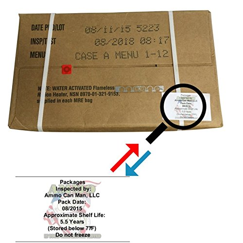 Ultimate 2018 US Military MRE Cases Inspection Date 08/2018 or Newer (Case A)