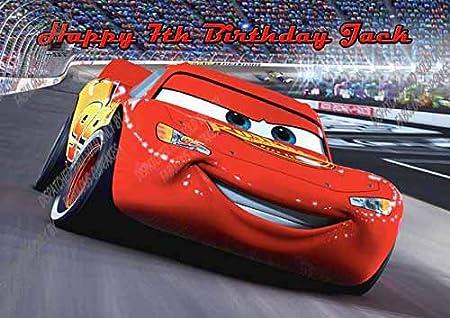 Cars Lightning Mcqueen A4 papel de azúcar glaseado ...
