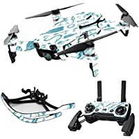 MightySkins Skin for DJI Mavic Air Drone - Teal Lures | Max Combo Protective, Durable, and Unique Vinyl Decal wrap cover | Easy To Apply, Remove, and Change Styles | Made in the USA