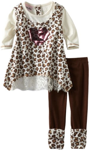 Little Lass Baby-Girls Infant 2 Piece Leopard Legging Set