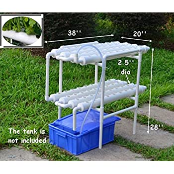 USA Premium Store 110V Pump Hydroponic 72 Plant Sites Grow Kit Ebb Water  Culture Garden System