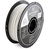HATCHBOX 3D PLA-1KG1.75-WHT PLA 3D Printer Filament, Dimensional Accuracy +/- 0.05 mm, 1 kg Spool, 1.75 mm, White