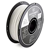 3D Printer - HATCHBOX 3D PLA-1KG1.75-WHT PLA 3D Printer Filament, Dimensional Accuracy +/- 0.05 mm, 1 kg Spool, 1.75 mm, White