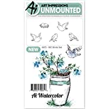 Art Impressions Watercolor Cling Rubber Stamp Birds