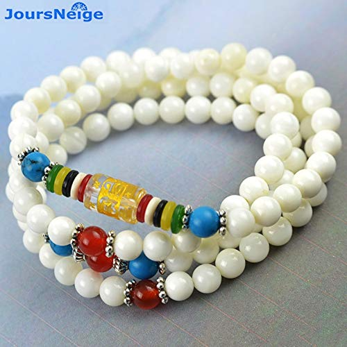 Natural Ocean White Bracelet | Beads 6Mm Round Fashion | Lucky Bracelets Jewelry Accessories for Men