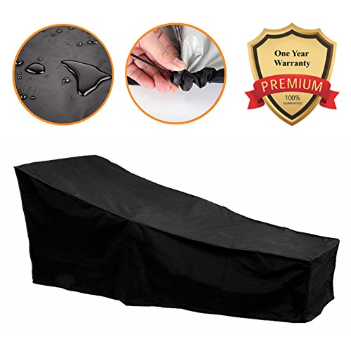 82-inch Water Resistant Patio Chaise Lounge Covers Durable Outdoor Lounge Chair Cover, Fading (Patio Chaise Lounge Cover)