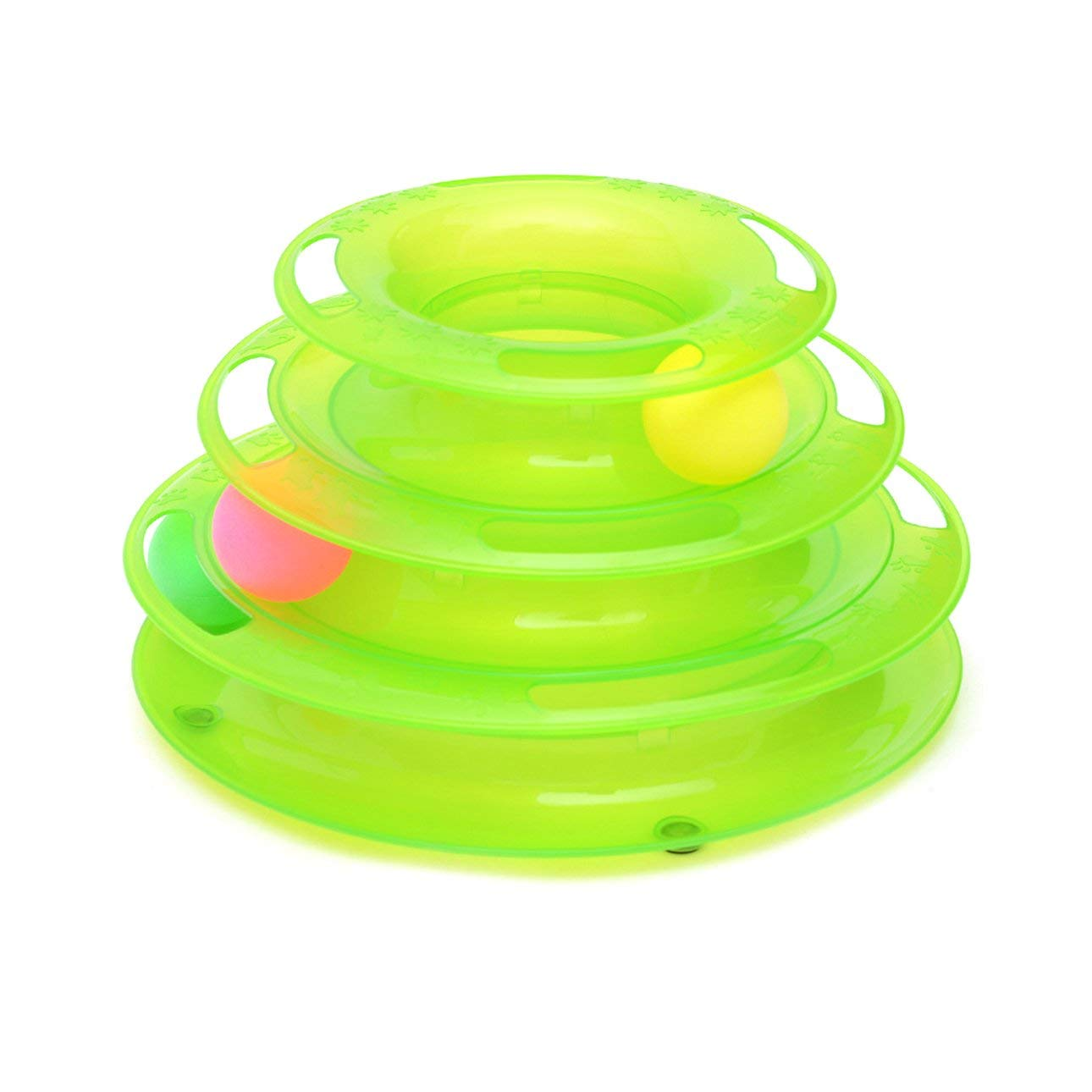 gr/ün Ballylelly-Lustige Hund katzenspielzeug original Design Amusement DREI Tower of Tracks pet vergn/ügungsplatte Ball Scheibe interaktive Spielzeug