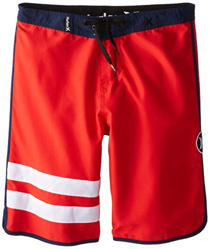 Hurley Big Boys' Block Party Boardshort-Daring Red, Daring Red, 18