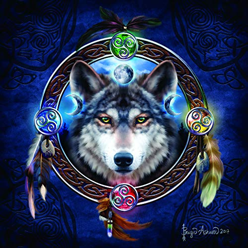 Celtic Wolf Guide Jigsaw Puzzle ()