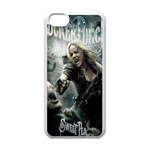 Baby Doll Sucker Punch coque iPhone 5C Housse Blanc téléphone portable couverture de cas coque EBDOBCKCO11253