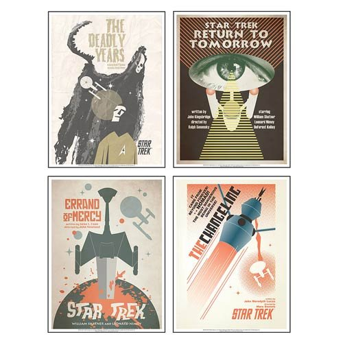 Star Trek:The Original Series Art Prints Set