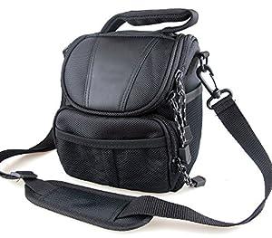 co2Crea(TM) Black Soft Nylon Digital Camera Case Bag Cover Pouch for Canon Powershot SX530 SX60 SX520 SX510 HS SX400 IS EOS Rebel Series DSLR with 18-55mm Lens kit